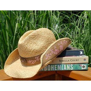 Jacobsen Bohemian Straw Western Cowgirl Hat